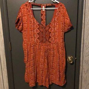 Free People Dresses - Orange free people dress